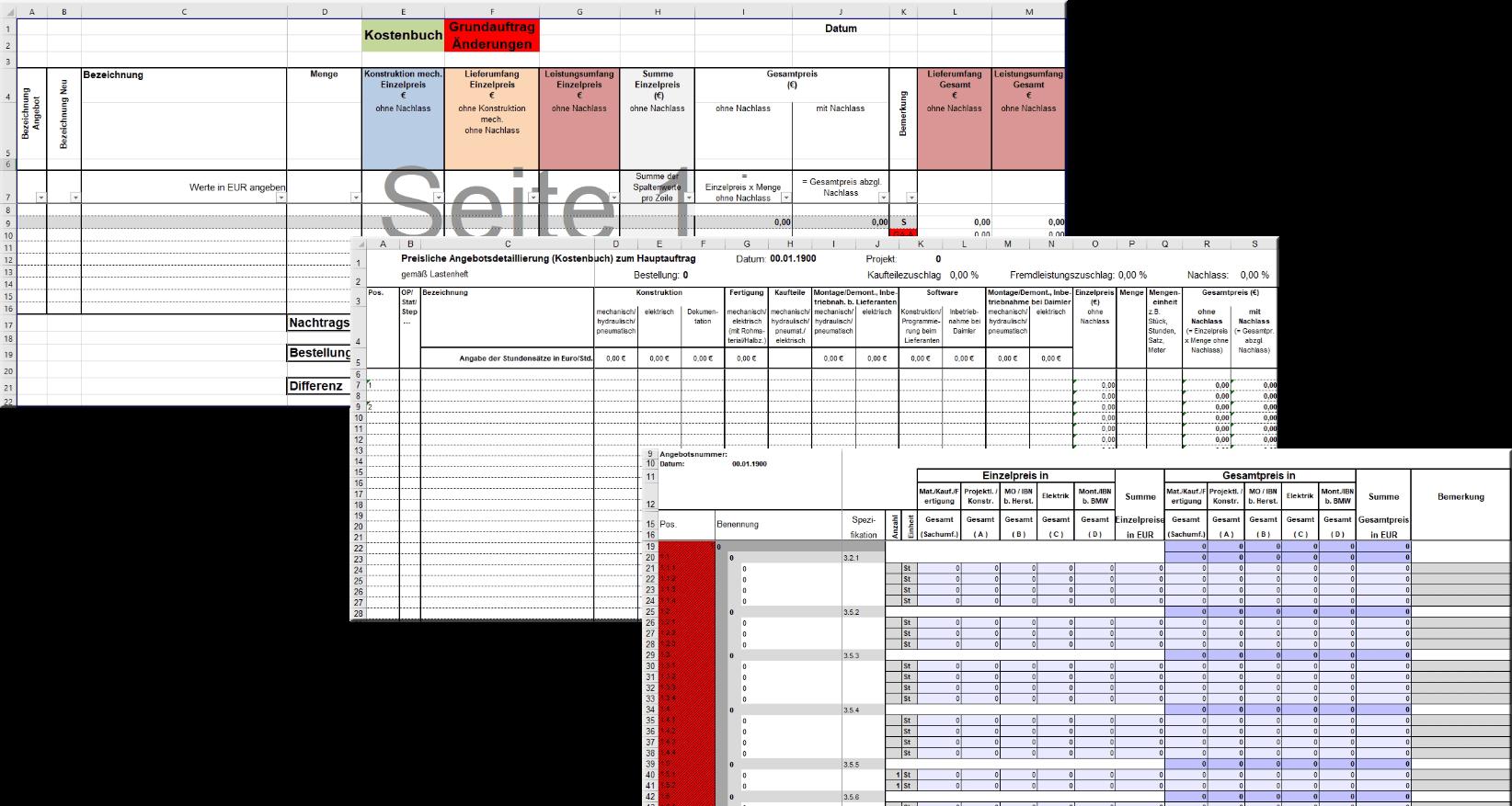 CPQ Excel Costbook Exports Grafik 1