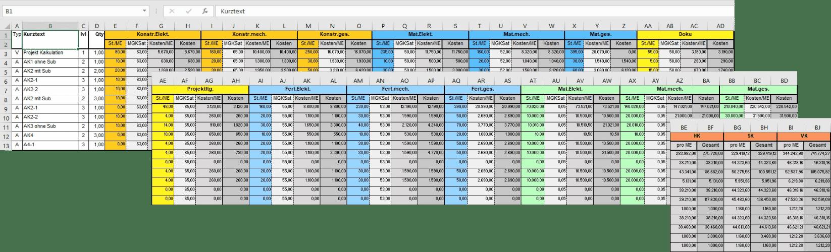 CPQ Excel Costbook Exports Grafik 2