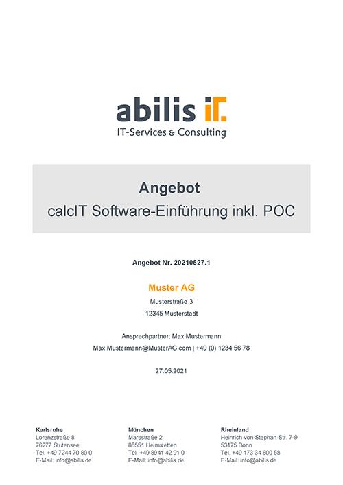 CPQ Angebote mit calcIT